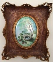 """Bird's Nest"" Original Enamel on Copper by Max Karp"