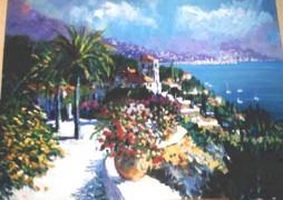 """Riviera Reverie"" Original Acrylic/Canvas by Kerry Hallam"