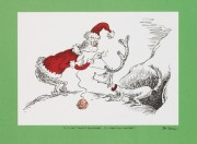 """""""If I Can't Find a Reindeer, I'll Make One Instead"""" Lithograph by Dr. Seuss"""