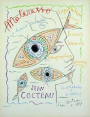 """""""Matarasso, Nice"""" Color Lithograph by Jean Cocteau"""