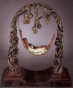 Spider Web Bronze Sculpture by Erte