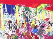 """Chez Francis"" Serigraph by LeRoy Neiman"