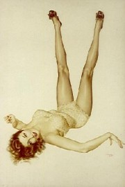"""""""Vargas Legacy Girl"""" Lithograph/Archers by Alberto Vargas"""
