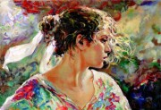 """""""Nostalgia"""" Hand-Pulled Serigraph on Paper by Royo"""