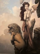 """""""The Last Lion"""" Giclee on German Etching Paper by Michael Parkes"""