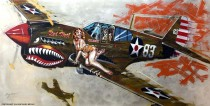 """""""Red Hot"""" Kittyhawk MK1 Limited Edition Giclee on Paper, Canvas or Aluminum by Michael Bryan"""