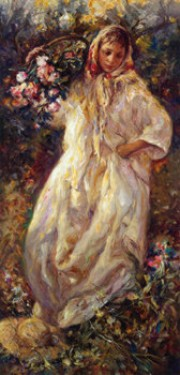"""Fall"" from the Four Seasons Suite, Serigraph on Paper by Royo"