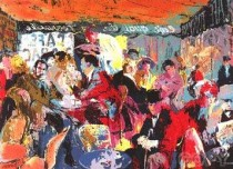 """Cafe Rive Gauche"" Serigraph by LeRoy Neiman"