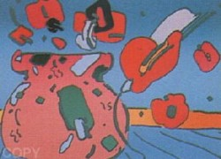 """Marilyn's Flowers I"" Serigraph on Paper by Peter Max"