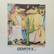 """""""Coyote"""" Lithograph by Marcus Pierson"""