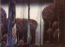 """""""Gothic Forest"""" Serigraph by Eyvind Earle"""