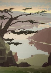 """""""Cape Foulweather"""" Serigraph by Jerry Schurr"""