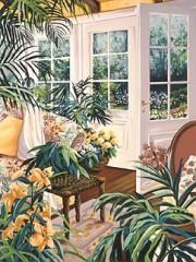 """""""Morning Garden"""" Serigraph by Susan Rios"""