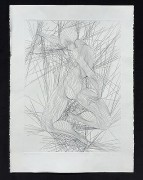 """Contraction"" Black & White Etching by Guillame Azoulay"