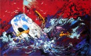 """""""Red Sky"""" Serigraph from the Moby Dick Suite by LeRoy Neiman"""