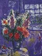 """""""Autoportrait Avec Bouquet de Flores"""" Plate-Signed Lithograph by Marc Chagall"""