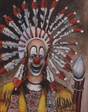 """""""Indian Clown"""" Open Edition Lithograph by Red Skelton"""