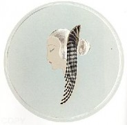 """""""Chignon"""" Estate-Signed Embossed Serigraph with Foil Stamping by Erte"""
