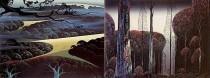 """""""Blue Fog"""" & Gothic Forest"""" Serigraphs by Eyvind Earle"""