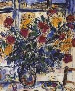 """""""Le Bouquet Devant La Fenetre"""" Plate-Signed Lithograph by Marc Chagall"""