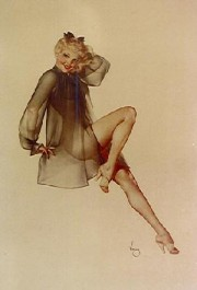 """""""Sleepy Time Gal"""" Deluxe Lithograph on Odalisque by Alberto Vargas"""