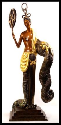 """""""Bamboo""""  Bronze sculpture by Erte"""