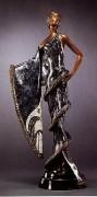 """""""Chinchilla"""" Bronze Sculpture by Erte"""