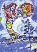 """La Sirene au Pin"""" Plate-Signed Lithograph by Marc Chagall"""
