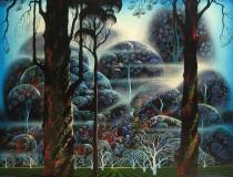 """""""Mist In The Dark Woods"""" Serigraph by Eyvind Earle"""
