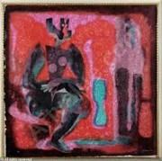 """Un Paso"" Acrylligraph on Paper by Byron Galvez"