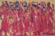 """Timbuktu Royal  Drummers"" Original Oil on Canvas by Tafa Fiadzigbe"