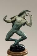 """White Face"" 1/2 Life Size Bronze Sculpture by Richard MacDonald"