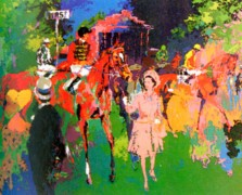 """""""Queen at Ascot"""" Serigraph by LeRoy Neiman"""