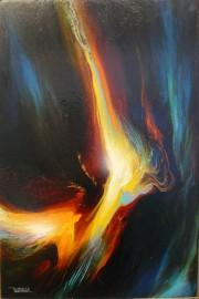 """Night Flight"" Original Oil on Canvas by Leonardo Nierman"