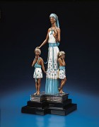 """Motherhood"" Bronze Sculpture by Erte"