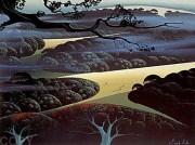 """""""Blue Fog"""" Serigraph by Eyvind Earle"""