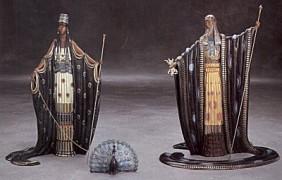 """""""Hera & Zeus"""" Bronze Sculpture by Erte"""