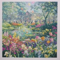 """""""Wedding in the Park"""" Serigraph on Paper by Teppei Sasakura"""