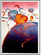 """Fantasy Lady"" Lithograph by Peter Max from the Ladies of the 80's Suite"