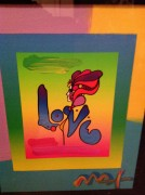 """Love on Blends"" Original Mixed Media Unique by Peter Max"