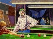 """Billiards at Cafe Paloma"" Serigraph by Aldo Luongo"