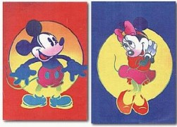 """Disney Mickey & Minnie""  Suite of 2 Serigraphs by Peter Max"