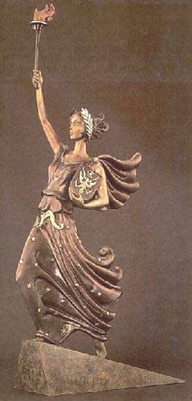"""Liberty, Fearless and Free"" a Bronze Sculpture by Erte"