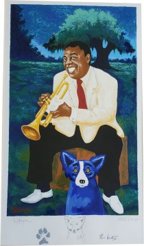 """New Orleans Jazz & Heritage Festival 1995"" Artist Proof Poster by Blue Dog Artist George Rodrigue"