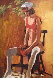 """Crazy Girl"" Original Acrylic/Canvas by Nicola Simabri"