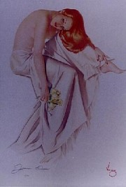 """""""Jeanne Dean"""" Lithograph/Odalesque by Alberto Vargas"""