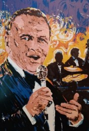 """""""Sinatra In Concert"""" serigraph by Paul Blaine Henrie"""