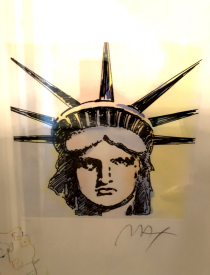 """""""Liberty Head Remarqued 2015 Embellishe Etching by Peter Max"""