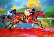 """Affirmed & Spectucular Bid (Race of the Year) Serigraph by LeRoy Neiman"