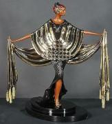 """Opening Night"" Bronze Sculpture by Erte"